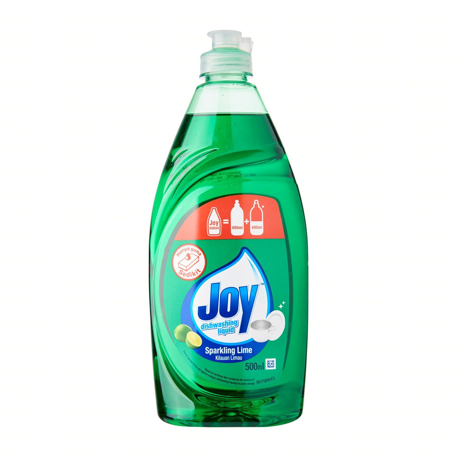 Joy Sparkling Lime Concentrated Dishwashing Liquid 500ML