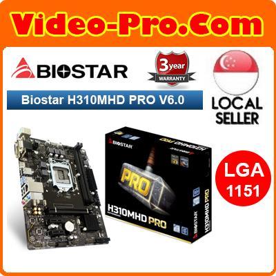 Biostar H310MHD PRO V6 0 Coffee Lake Micro ATX Motherboard