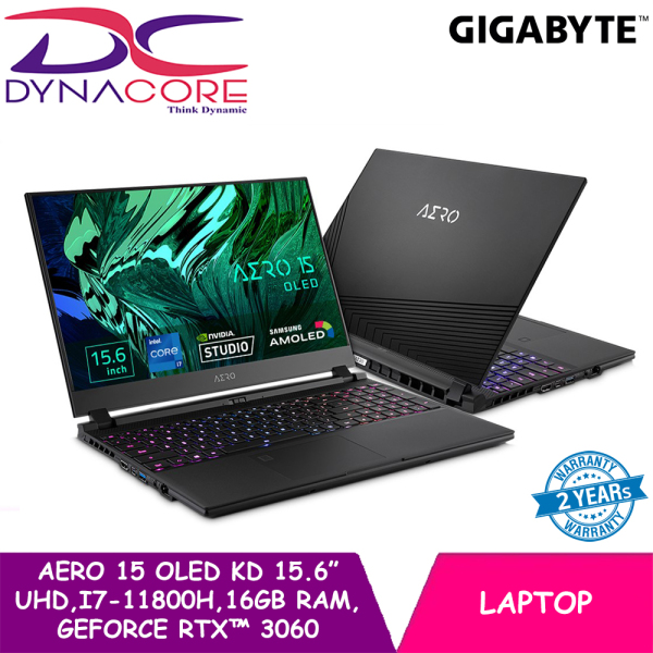 【PRE-ORDER】DYNACORE - GIGABYTE AERO 15 OLED KD i7-11800H   15.6 UHD   16GB RAM   GeForce RTX™ 3060   512GB NVMe PCIe Gen4   WIN 10 HOME