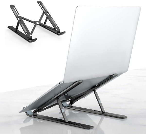[SG Local Seller]Savfy Laptop Stand,Aluminum Alloy Foldable Portable Adjustable Ergonomic Laptop Stands