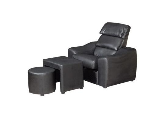 MASSAGE CHAIR 1 SEATER + 1 POUF + 1 STOOL / RELAX CHAIR / SLEEP CHAIR / HALL CHAIR