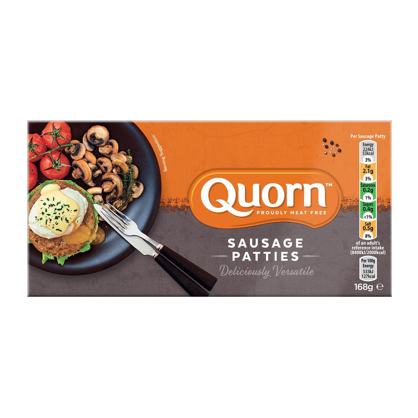 Quorn Sausage Patties - Frozen By Redmart.