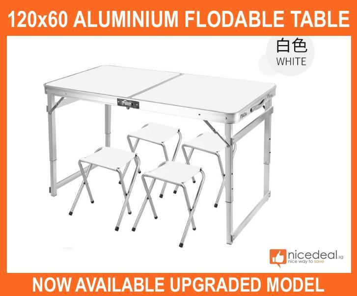 Upgraded version foldable portable Aluminum table 120x60 cm