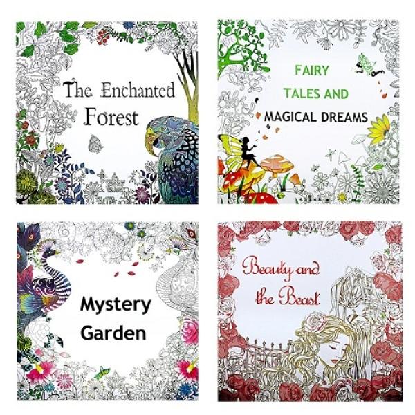 [SG Seller] Secret Garden Coloring Books Adult Children 4 big size books