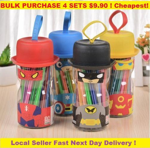 4 PCS Bulk Purchase Party Goodie Bag Super Hero Color Pen Stationary Birthday Gift
