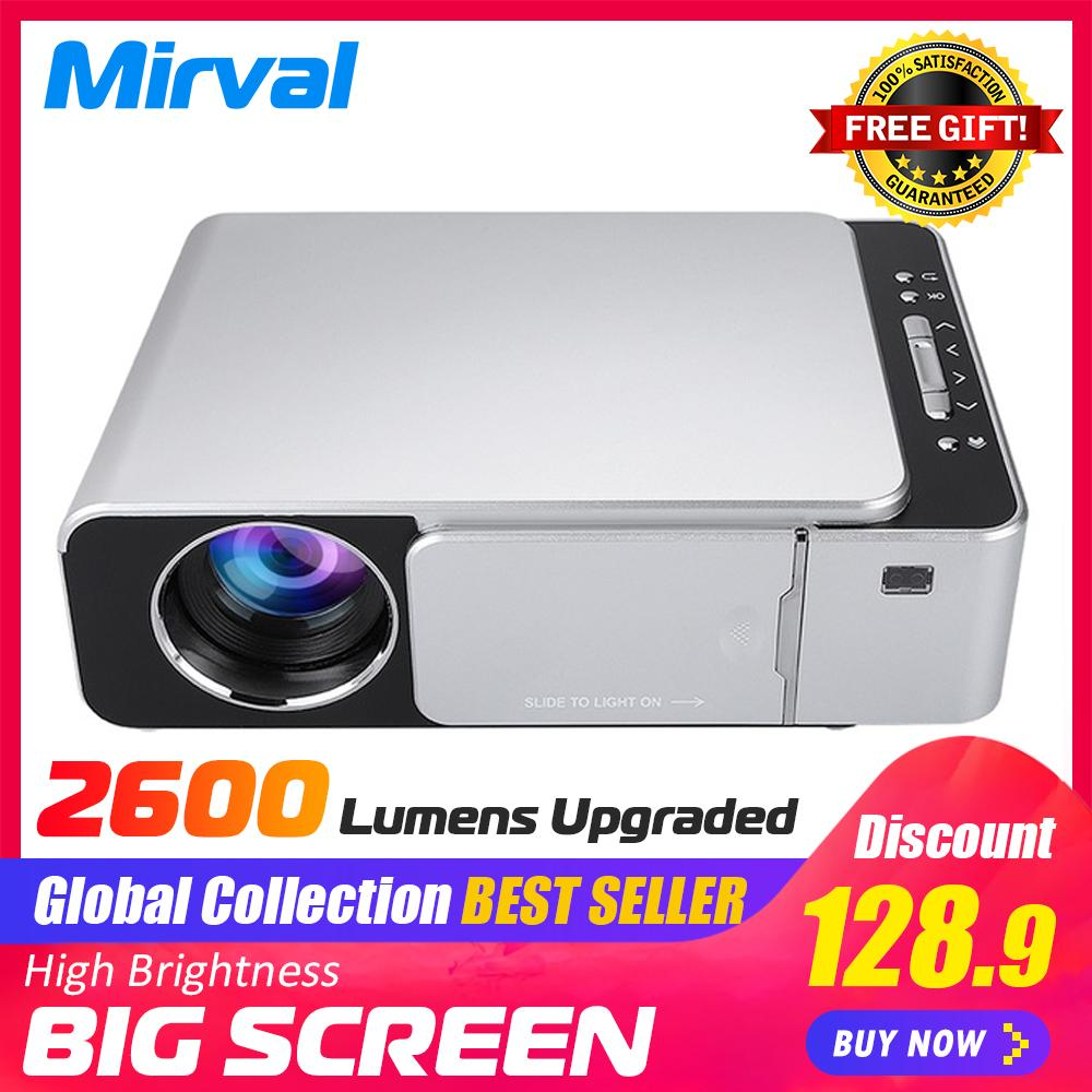 Mirval Y6 1080P LED Mini Portable Projector 2600 lumens 1280x720 Short  throw Home Theater