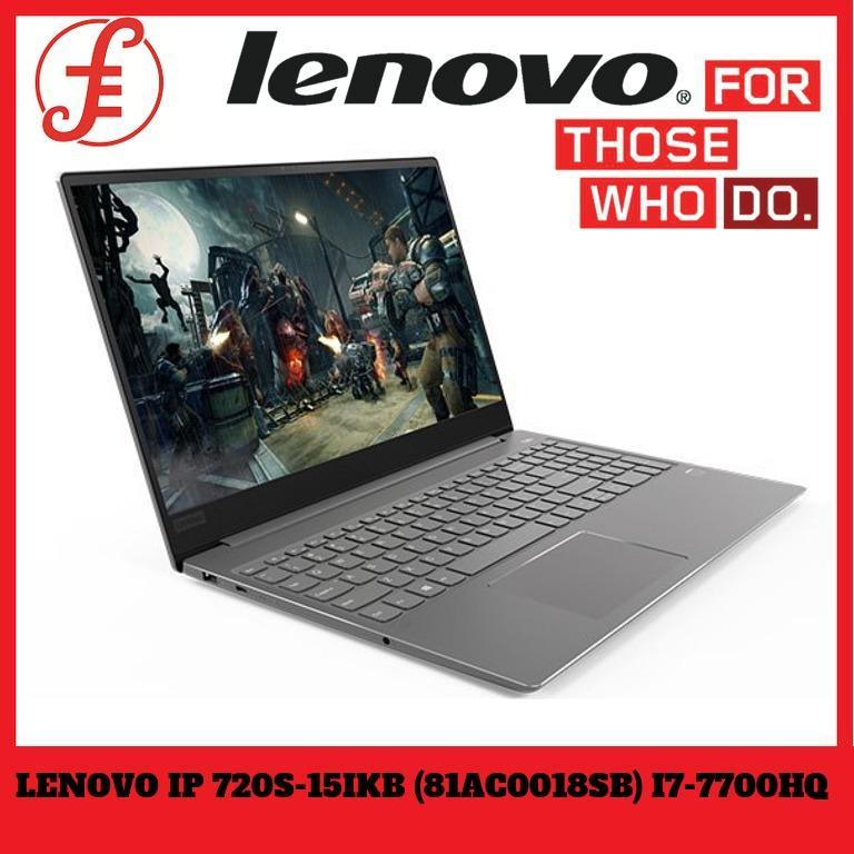 LENOVO IDEAPAD 720S-15IKB (81AC0018SB) 15.6 IN INTEL CORE I7-7700HQ 16GB 512GB SSD WIN 10 (81AC0018SB)