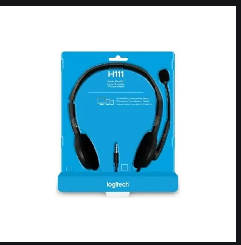 Logitech Stereo Headset H111 - Black Singapore