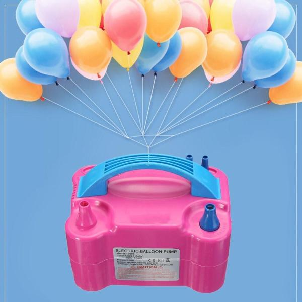 Electric Balloon Pump Dual Nozzles Inflator Air Blower Inflator 600W