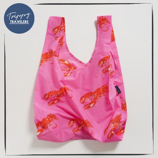 Standard Baggu Reusable Bag Spring Collection 2020 - Pink Lobster