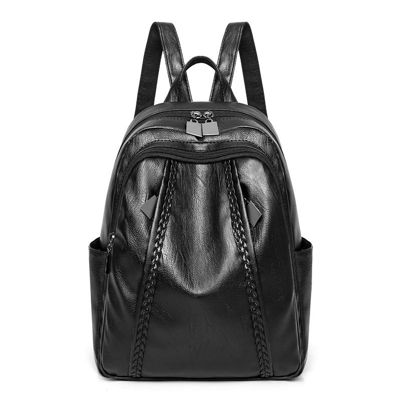 05020bc628b0 Backpack Women's 2019 New Style Korean Style Fashion Cool Versatile Soft  Leisure School Bag Package Fashion Backpack Female