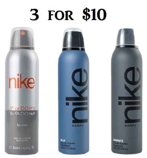 Buy 3 for $10 - Nike Man (Up Or Down, Blue, Graphite) edt perfume Deodorant 200 ml Singapore