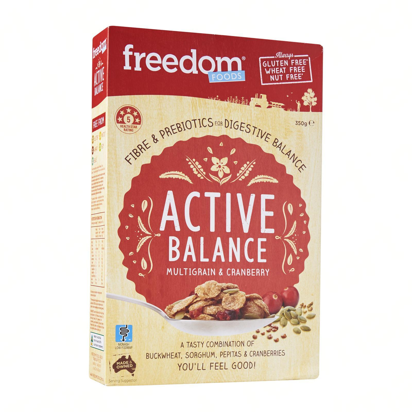 Freedom Foods Active Balance Multigrain And Cranberry By Redmart.