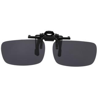 Polarized Rimless Rectangle Gray Lens Flip Up Clip on Sunglasses Eyeglass thumbnail