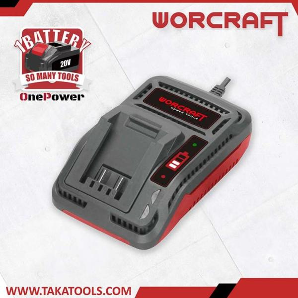 Worcraft OnePower Cordless Battery Tool Single Charger