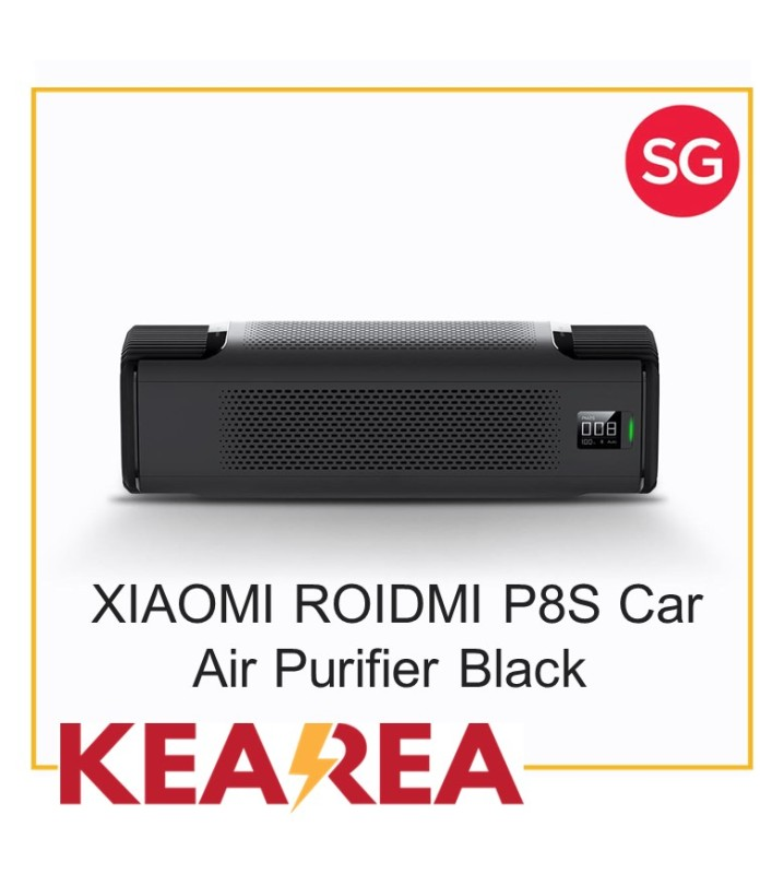 Xiaomi ROIDMI P8S Car Air Purifier APP Intelligent Control UV ABS OLED Screen Laser Particle Sensor-XIAOMI Ecological Chain Singapore