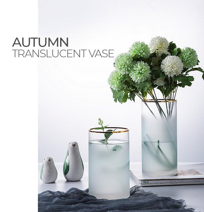 AUTUMN Translucent Frosty Vase