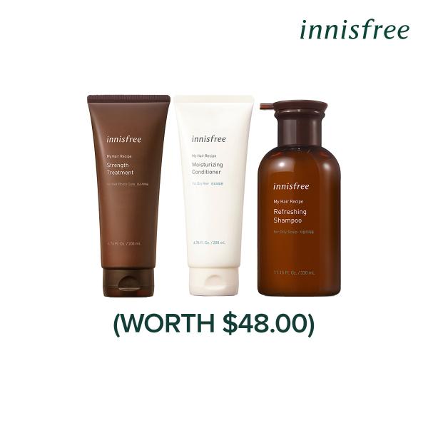 Buy innisfree Daily Hair Care Bundle Set Singapore