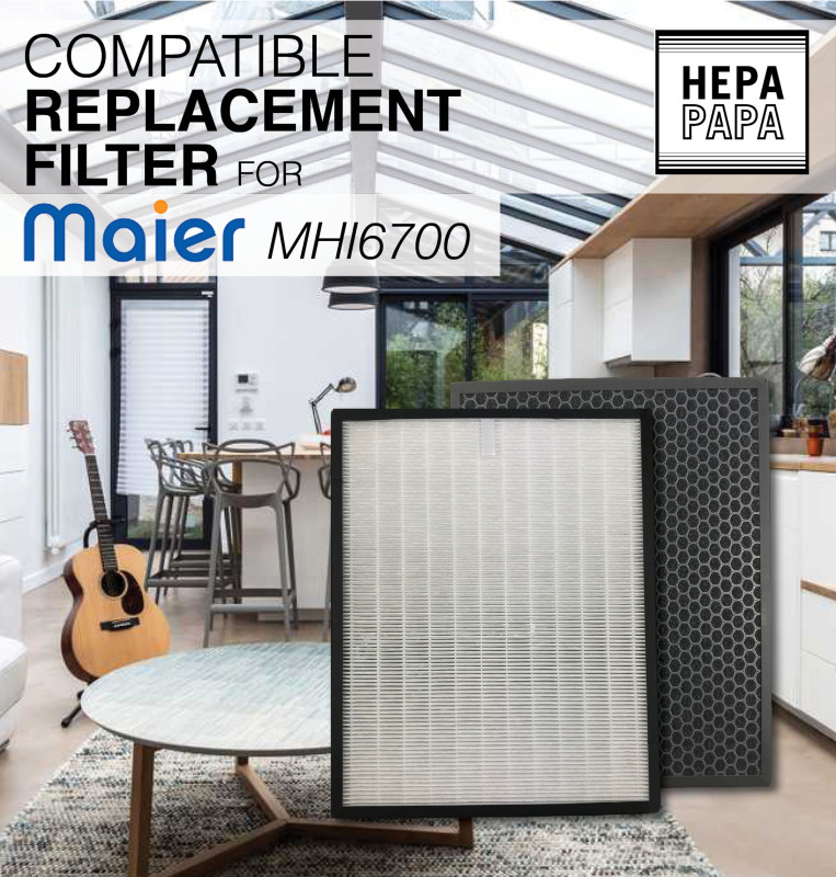 MAIER MHI6700 Compatible HEPA and Carbon Filter [Free Alcohol Swab] [HEPAPAPA] Singapore