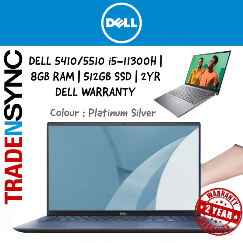[ FAST DELIVERY ] H Processor | Dell Inspiron 5410 & 5510 | i5-11300H | 8GB RAM | 512GB SSD | Intel Iris Xe Graphics |  Anti-glare LED Backlight Non-Touch Narrow Border WVA Display |2Y Premium Support and Onsite Warranty