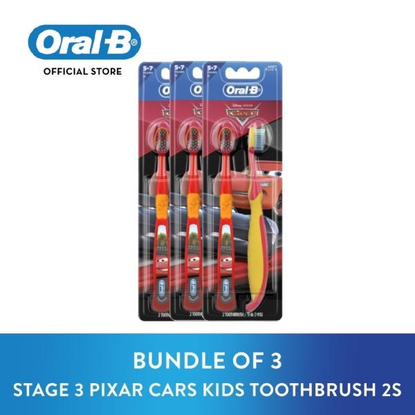 Buy [Bundle of 3] Oral B Stages 3 Disney Pixar Cars Kids Toothbrush 2s Singapore