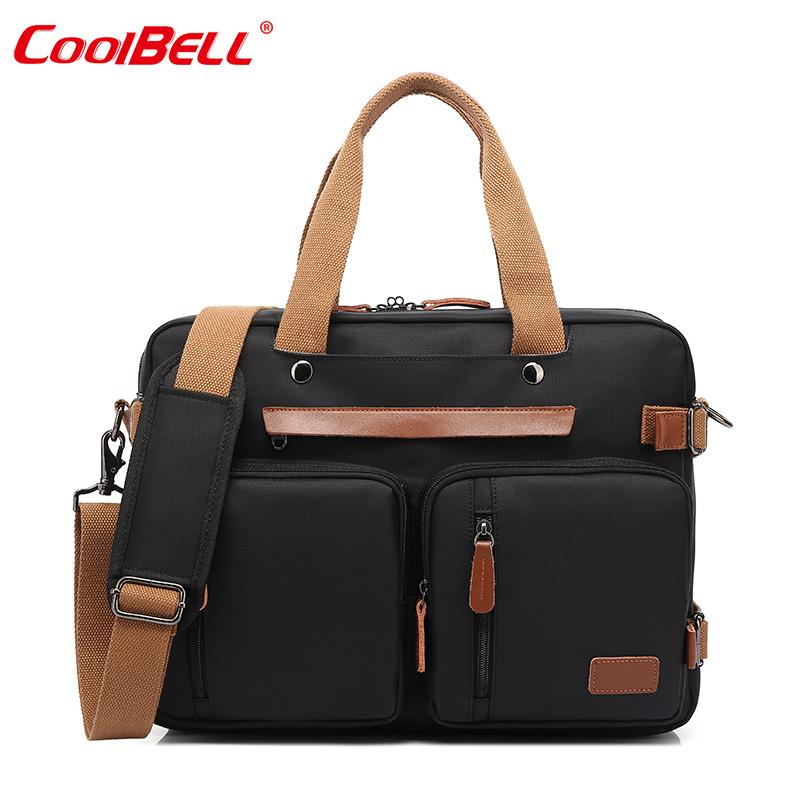 Hand Computer Bag Male One-Shoulder Large Capacity Backpack Canvas 15.6-Inch Multi-functional a Package Multi-Purpose Business Trip 17.3