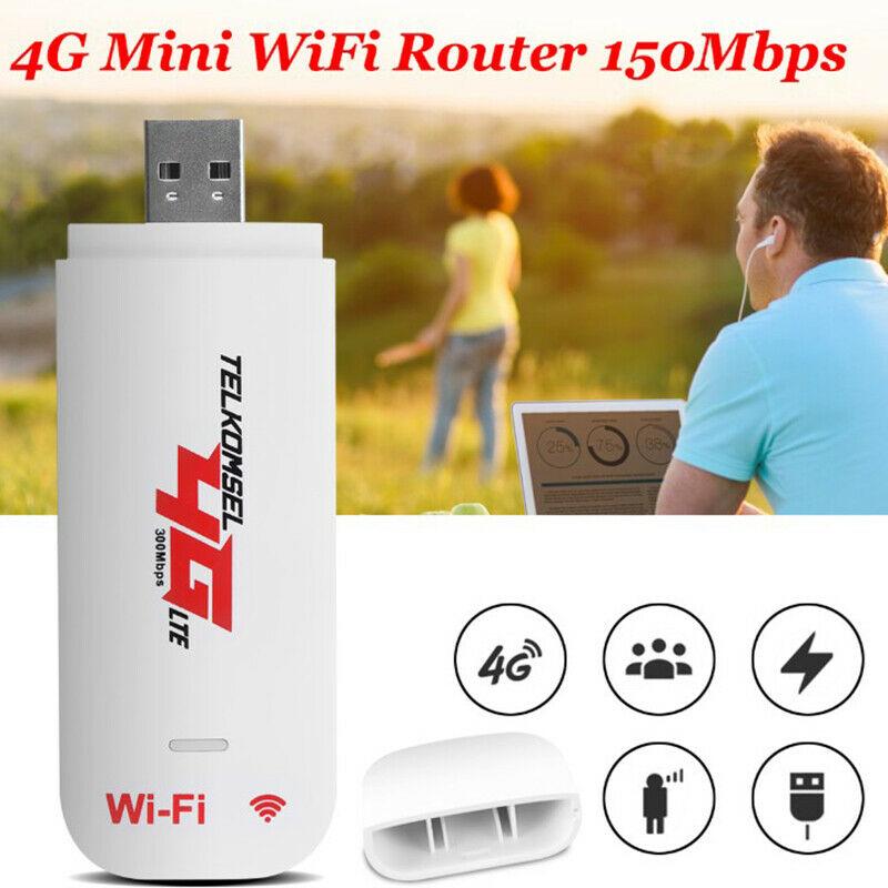 Giá Unlocked 4G Router LTE WIFI Wireless USB Dongle Broadband Modem 150 Mbps Portable Car WIFI Router Hotspot
