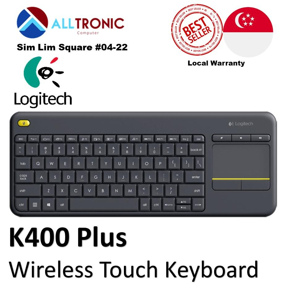 Logitech K400 Plus Wireless Touch Keyboard/ Singapore Authorized Reseller Singapore