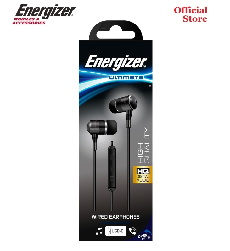 Energizer - Wired USB Type C In-Ear Earphones Earpieces Headsets with Mic for Samsung Note 10 Huawei XiaoMi Singapore