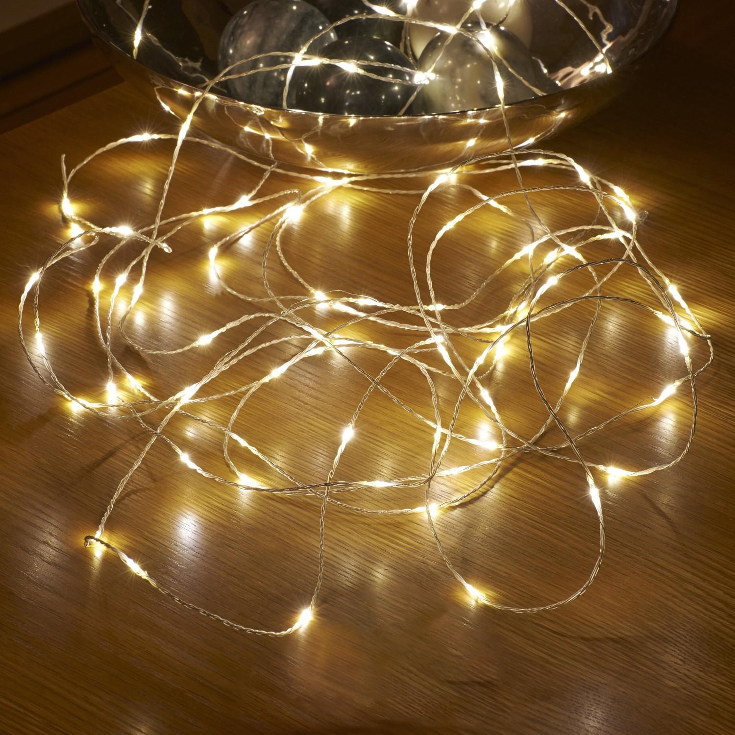 StarzDeals - 3 Meters 30 LED Battery operated Silver Wire - Warm White Singapore