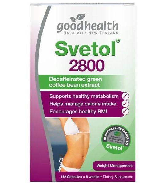 Svetol® 2800 - *decaffeinated Green Coffee Bean *clinically Researched *proven Weight Loss - 112caps By Health Mart.