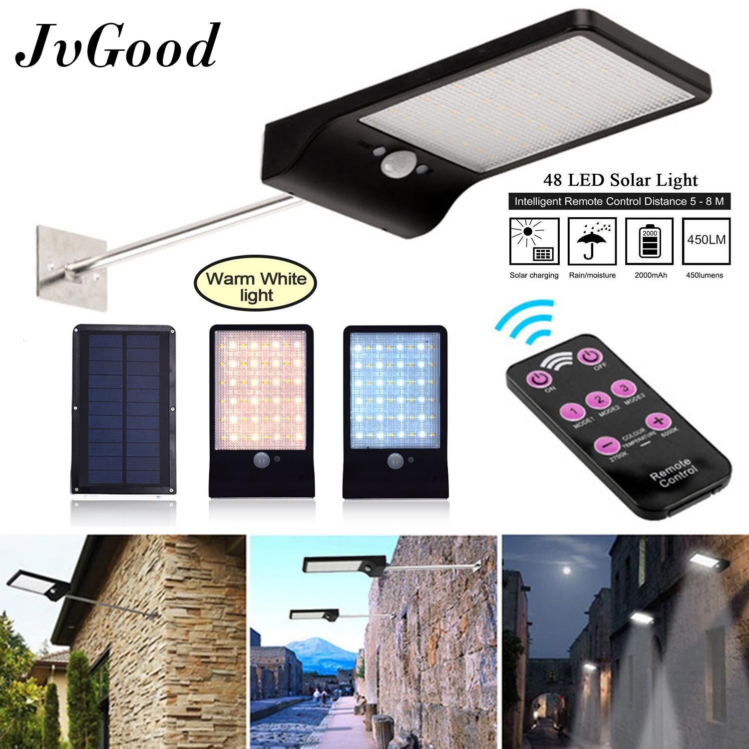 Outdoor Lighting For Sale Lights Prices Brands Review Wiring Motion Sensor In Series Jvgood Upgraded 48 Led Solar Light Waterproof Mounting Pole Garden
