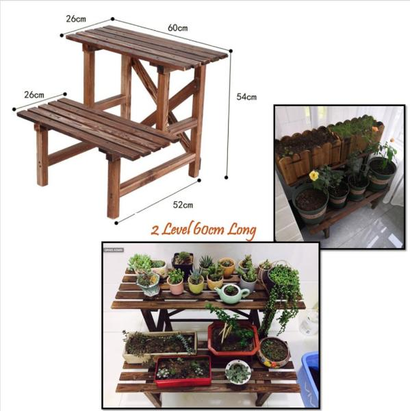 Wooden Plant Rack Step Bench Wood Nice Cheap Good Quality DIY Self Assemble Easy
