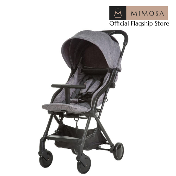 Mimosa Globetrotter+ Travel Lightweight Stroller - Platinum Grey (from birth) Singapore
