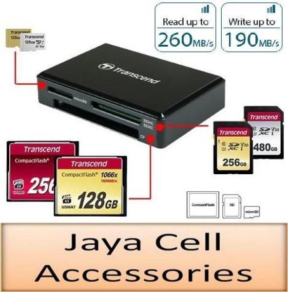 Transcend RDF9 USB 3.1 Gen 1 UHS-II SD, UHS-I microSD & CompactFlash CF Card Reader