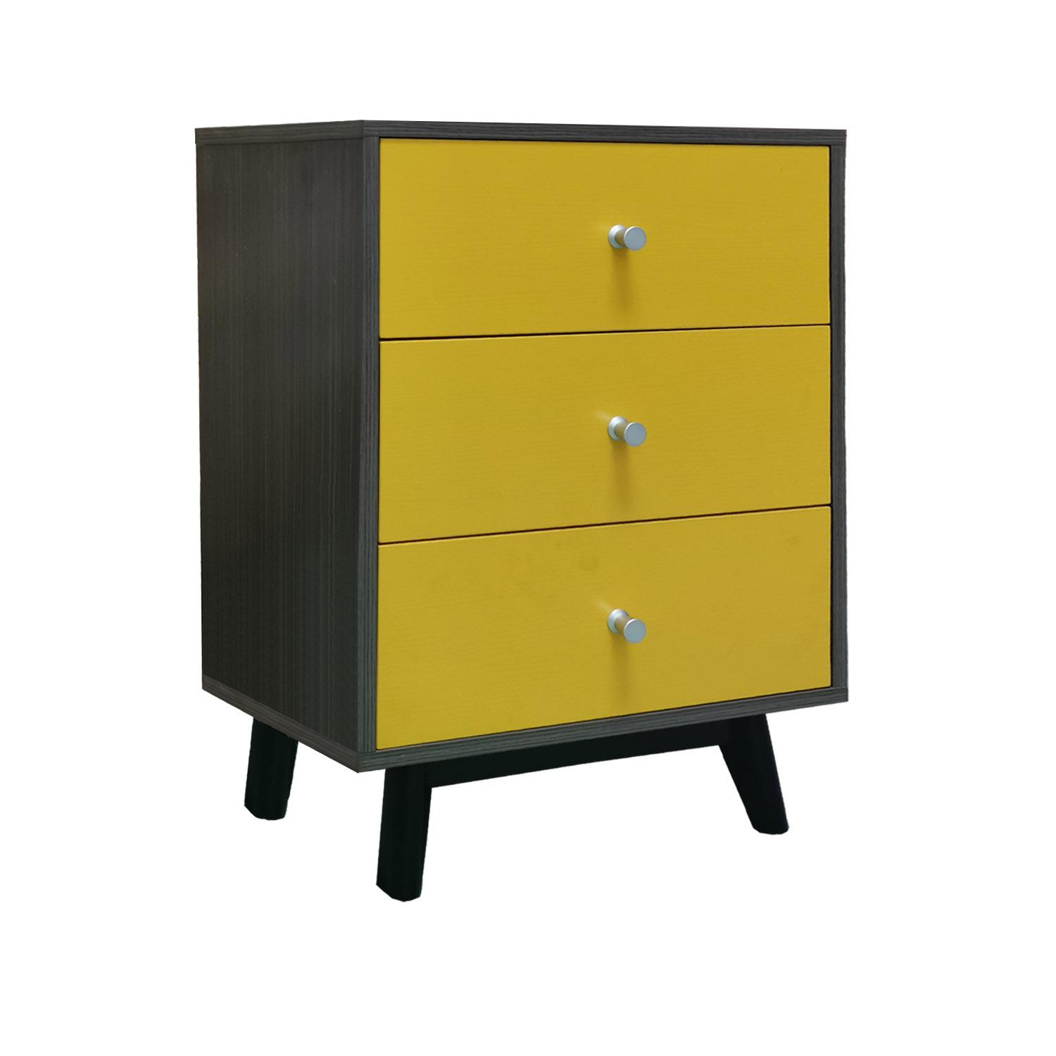 LIVING MALL_Castor 3 Chest Of Drawers_FREE DELIVERY