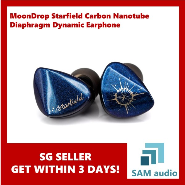 MoonDrop Starfield Carbon Nanotube Diaphragm Dynamic Earphone Singapore