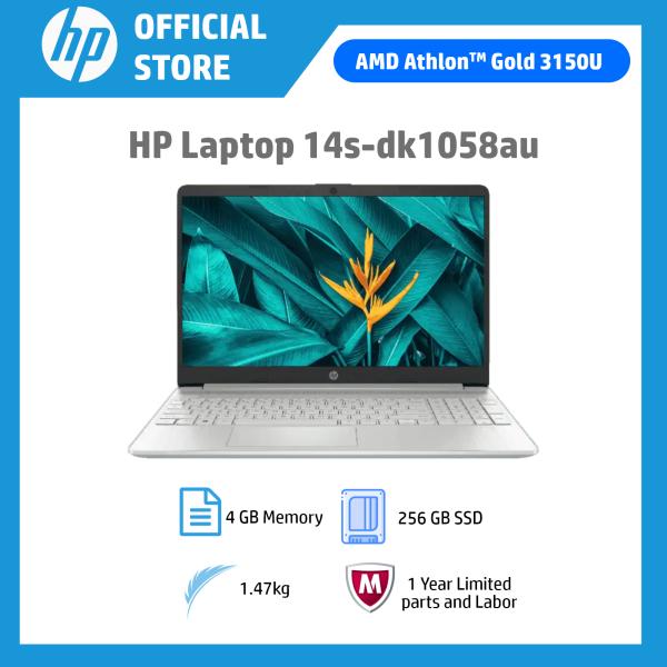 HP Laptop 14s-dk1058AU / AMD Athlon™ Gold 3150U / 4GB RAM / 256GB SSD / Win 10 / Slim & Thin / Long Lasting Battery Life