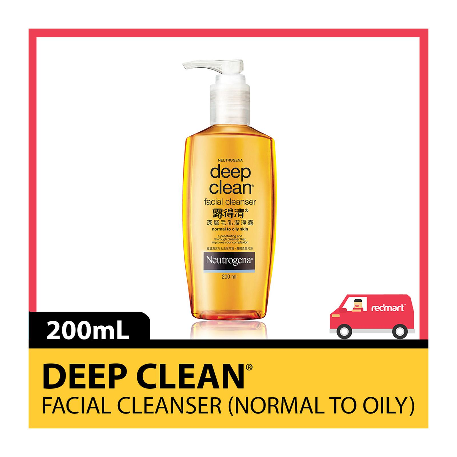 NEUTROGENA Deep Clean Facial Cleanser (Normal/Oily) 200ml