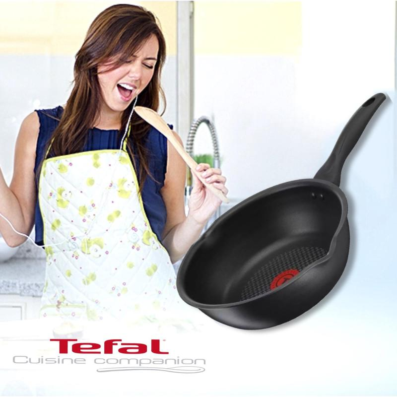 Tefal C64386 Pure Hard Titanium 28 cm Deep Frypan (Black) * FOR ALL HOBS + INDUCTION * Singapore