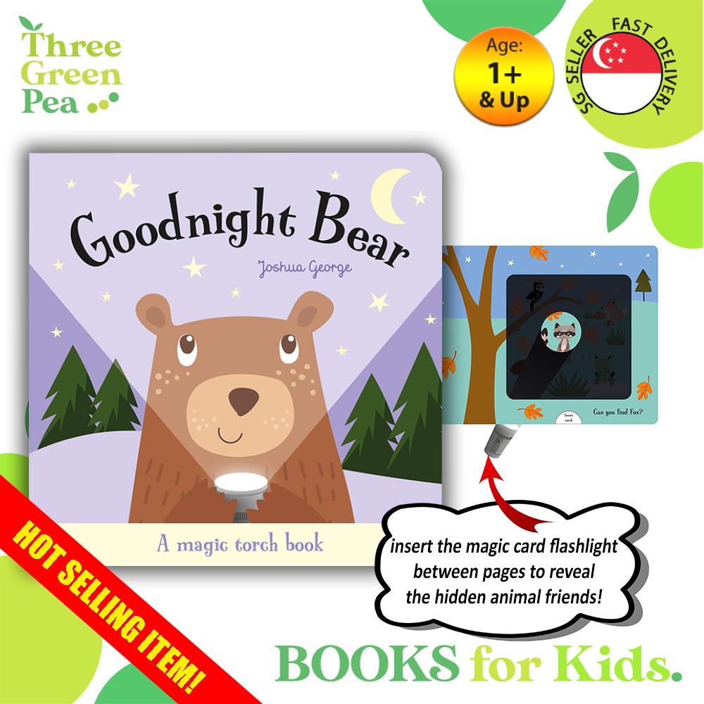 Goodnight Bear Magic Torchlight Interactive Board Book Children Books Bedtime Story