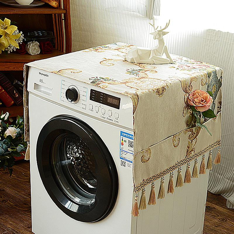 European Style Washing Machine Cover Roller Washing Machine Cover Dustproof Cloth Bedside Table gai jin to Cover Refrigerator Cover Fabric