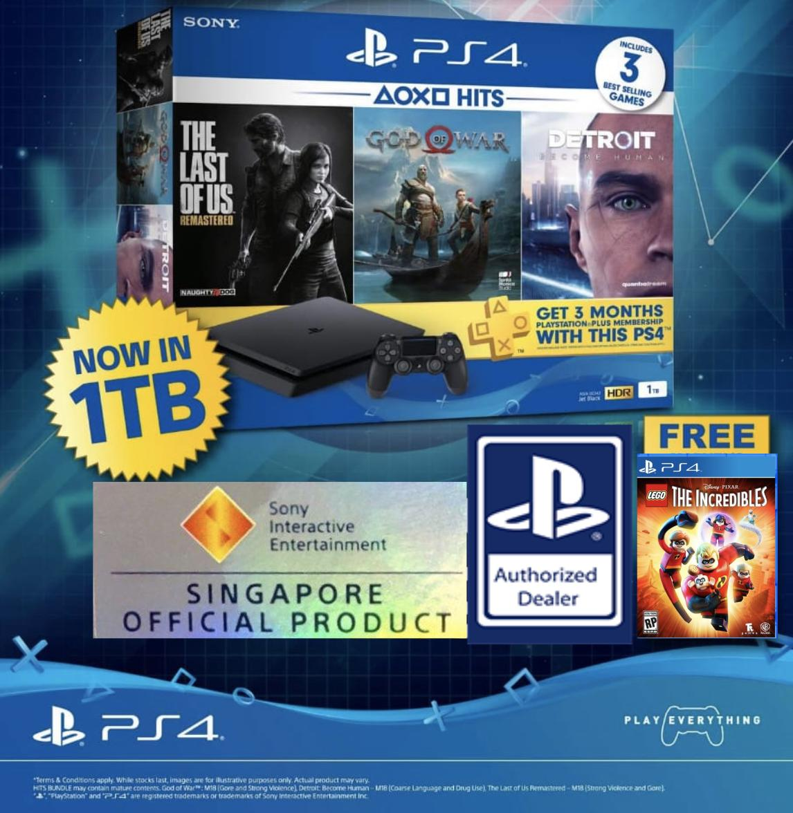 PS4 1TB Slim Hits Bundle with Free LEGO The Incredibles Game Disc