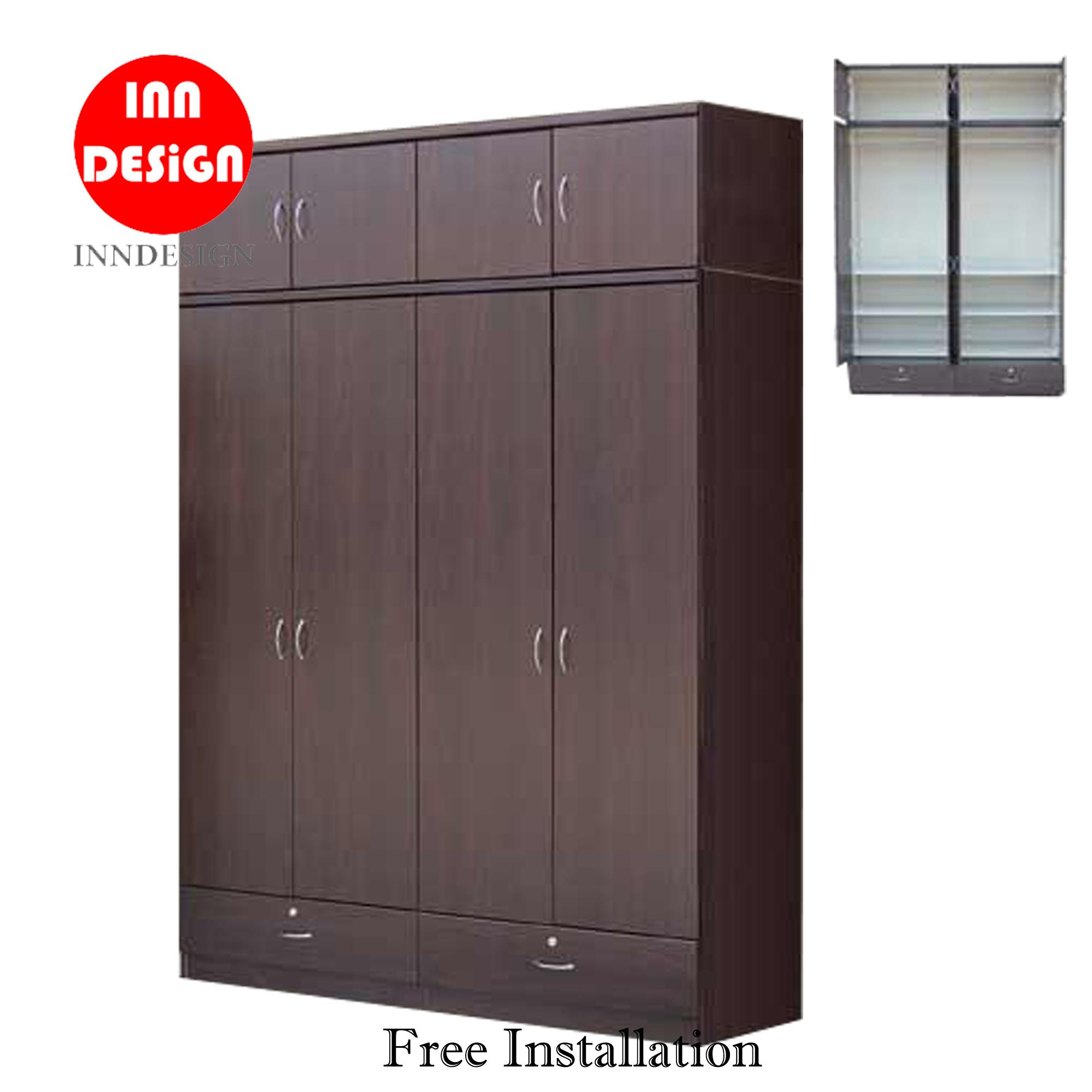 Zenn 5ft 8 Doors Wardrobe With Drawer (Free Delivery and Installation)