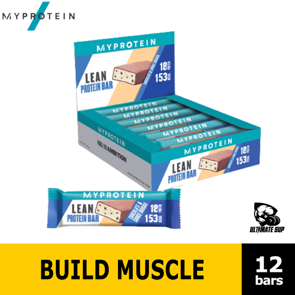 Buy MyProtein, Lean Protein Bar, Build Muscle, 12 Bars  - Ultimate Sup Singapore