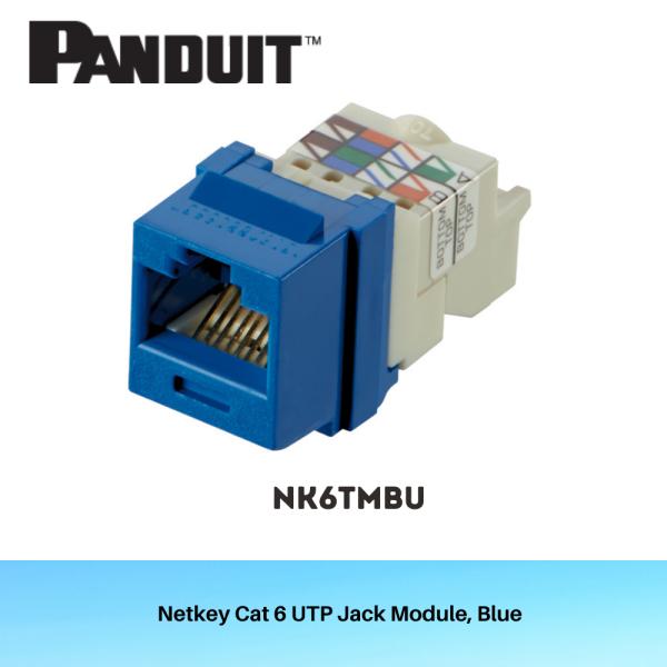 CAT6 UTP Netkey Jack NK6TMBU x 10pcs (Bundle)