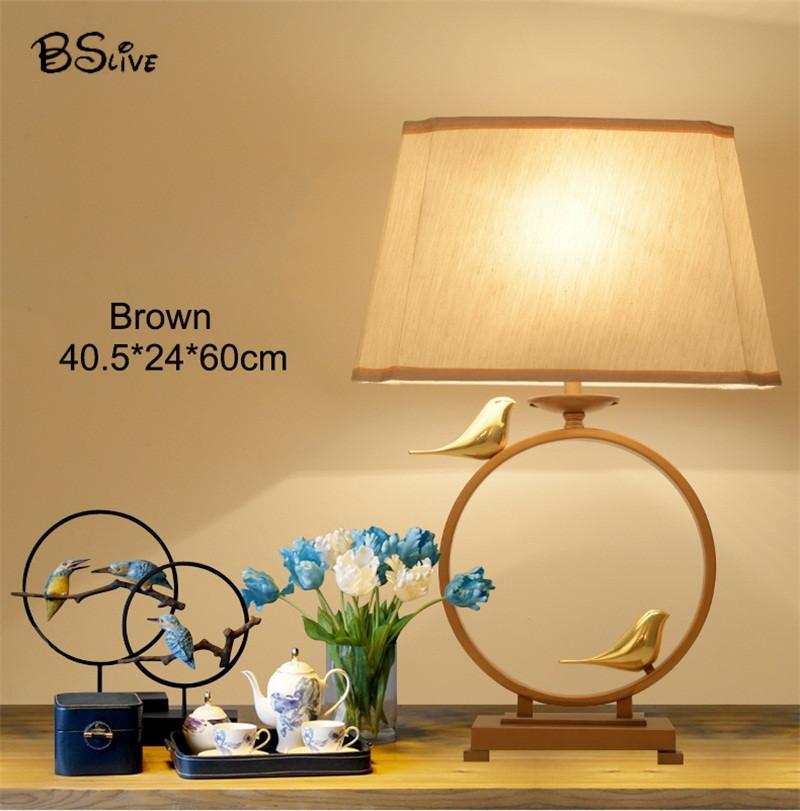 BSLive Led Linen table lamp Burlap night light linen for Home,Hotel