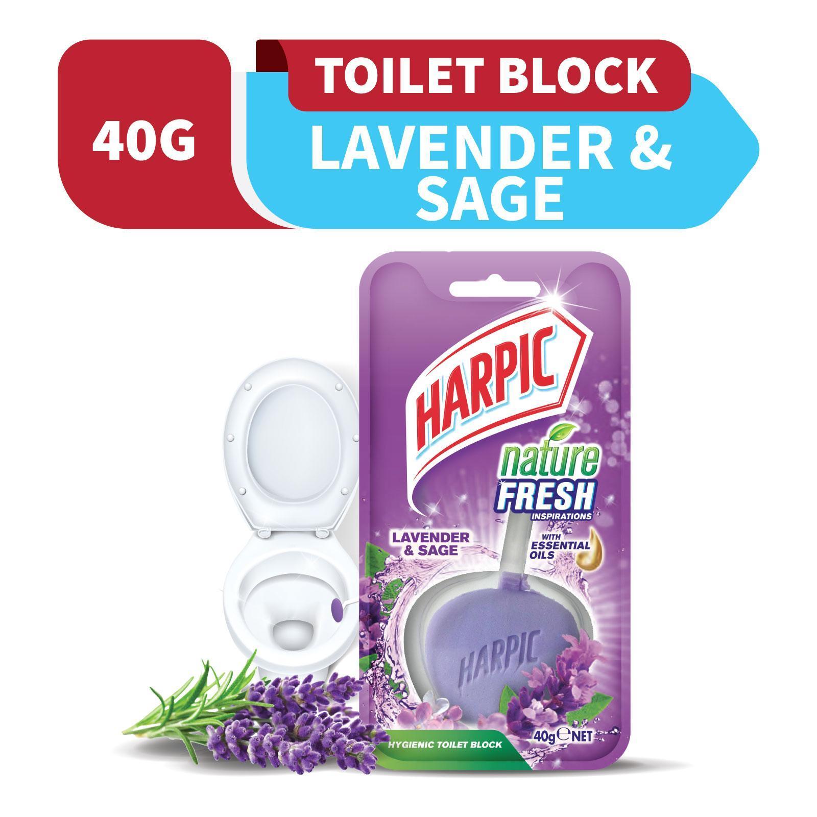 Harpic Hygienic Toilet Block Nature Fresh Lavender And Sage