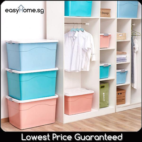 40L 70L 100L Storage Box / 5 Colors / With wheels Movable/ Organiser Boxes