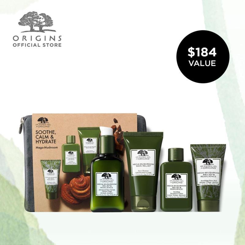 Buy [LIMITED EDITION] Origins Soothe, Calm & Hydrate Mega-Mushroom Kit (Worth $184) Singapore